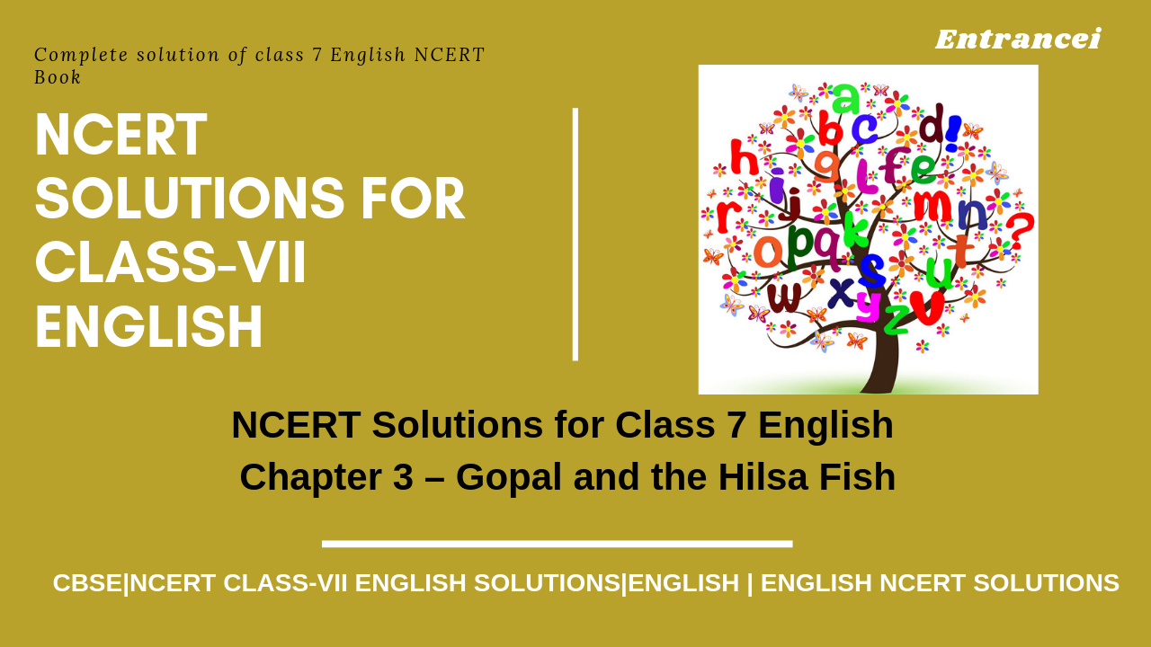 NCERT solutions for class 7 English   NCERT solutions for