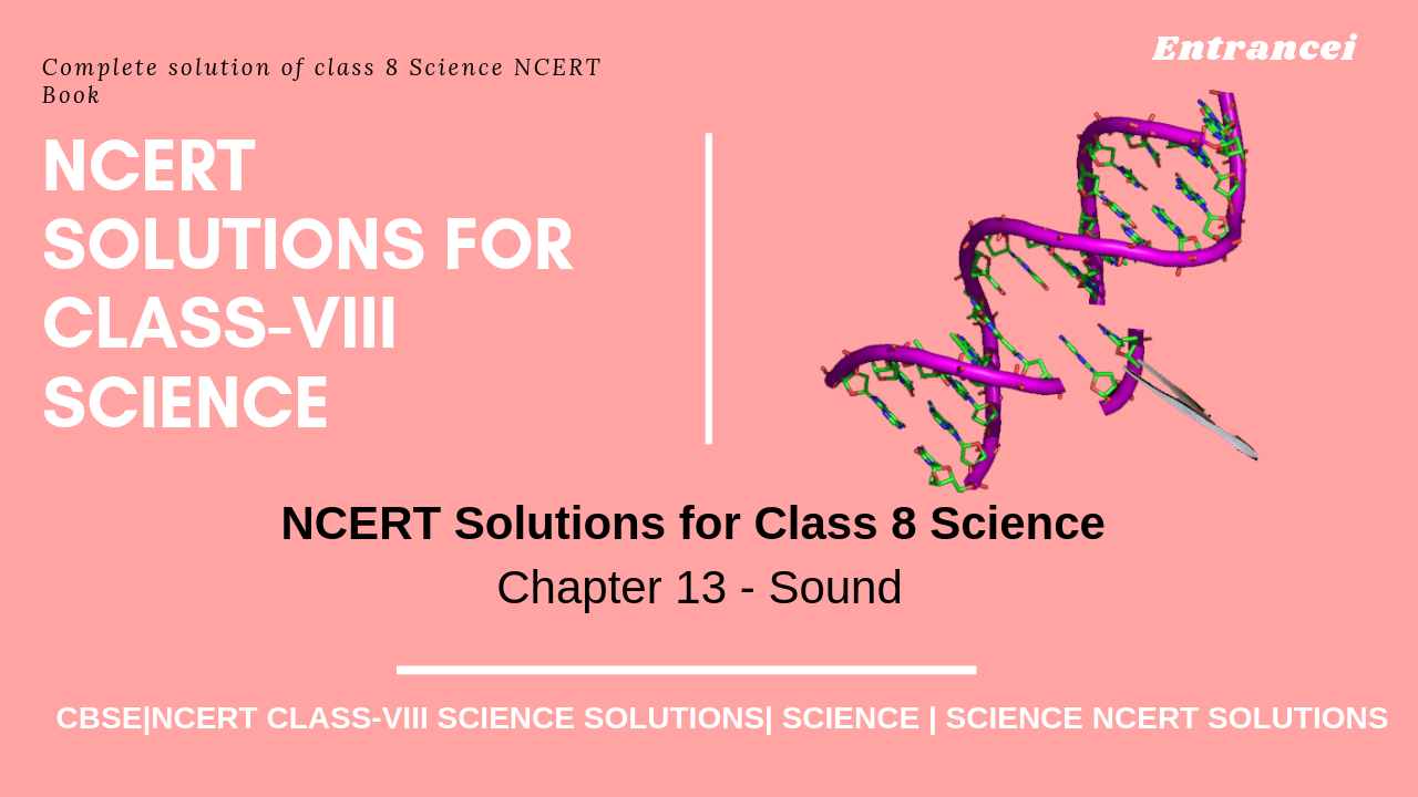 NCERT Solution for Class 8 Science Chapter 13 - Sound