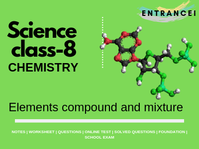 Class 8 Chemistry | Elements compound and mixture Notes and ...