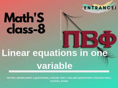 Class 8 Maths, Maths Questions and Answers for Class 8th   Entrancei