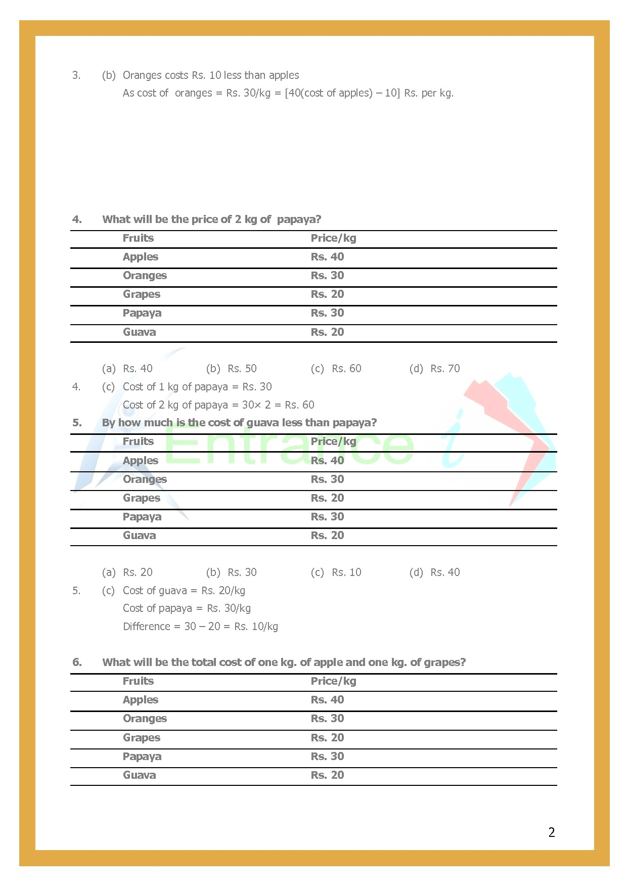 Chapter-1Knowing Our Numbers Worksheet-2|Class 6 Maths ...
