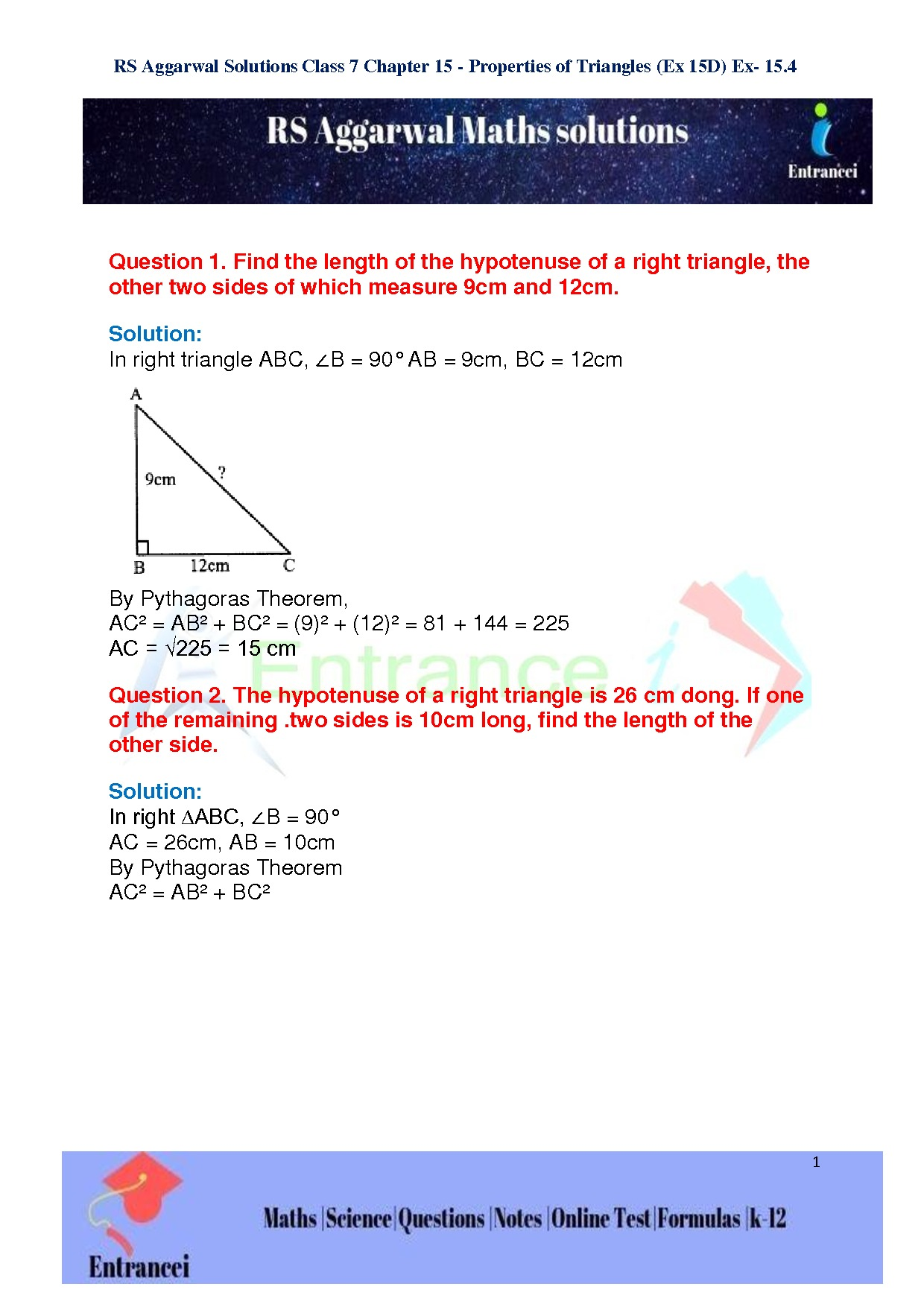 RS Aggarwal Class 7 Maths Solutions of Chapter-15 Properties