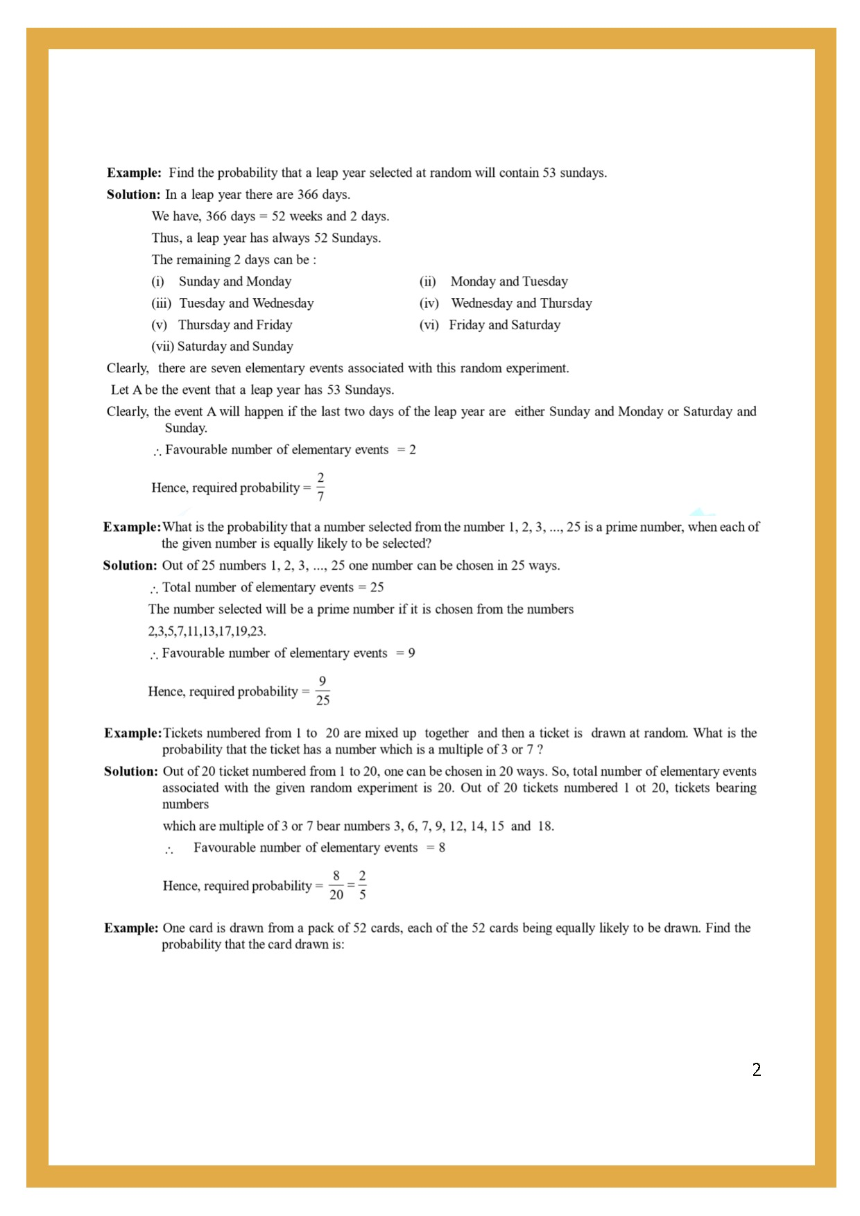 Chapter 4: probabilitymr. mac