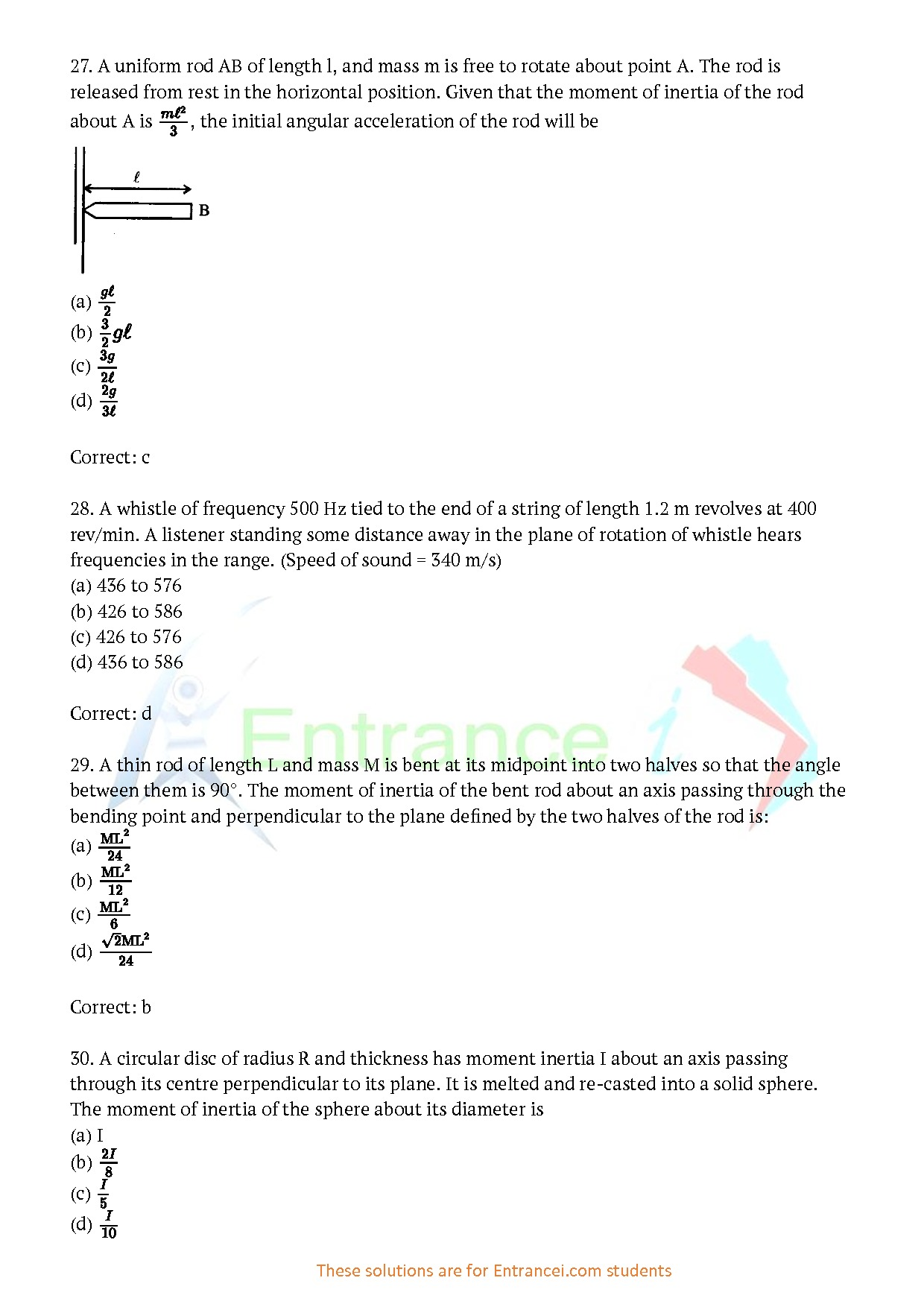 Previous Year BITSAT Question Paper-2019 With Answer Key ...